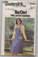Butterick 5190 vintage 1970s jumper pinafore sewing pattern