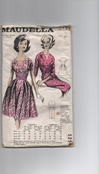 Maudella 5259 vintage 1950s or 1960s dress pattern