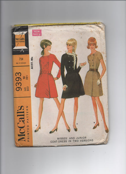 McCall's's 9393. Vintage 1960s dress pattern