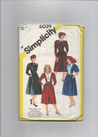 Simplicity 6029. Vintage 1980s dress sewing pattern