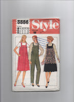 Style 3556 vintage 1980s maternity pinafore and jumpsuit pattern