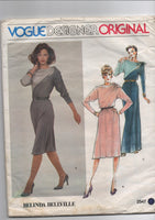 Vogue vintage sewing pattern Designer Original 2547; ca. 1981; Belinda Bellville