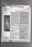 Vogue 2783 1992 Vogue bridal original Victor Costa wedding dress pattern