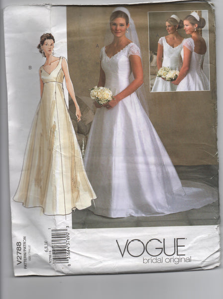 Vogue v2788 Vogue bridal original bridal dress pattern
