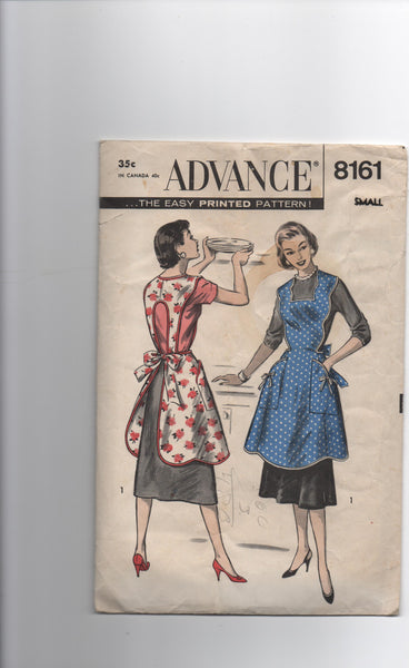 Advance 8161 vintage 1950s apron sewing pattern