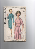 Butterick 2256 vintage  1960s dress sewing pattern