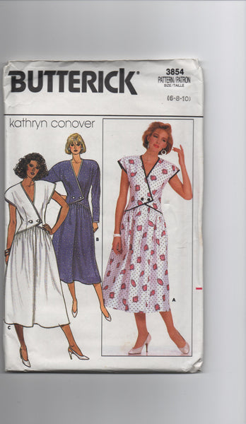 Butterick 3854 vintage 1980s dress sewing pattern Kathryn Conover