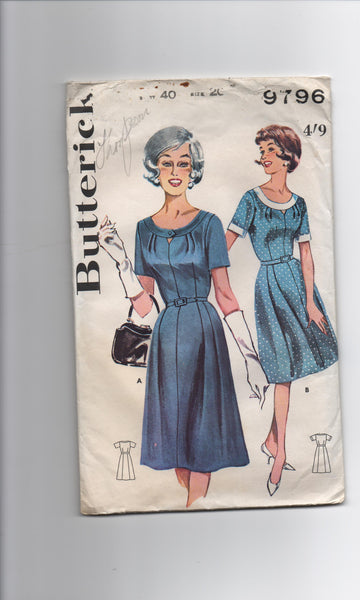 Butterick 9796 vintage  1960s dress sewing pattern