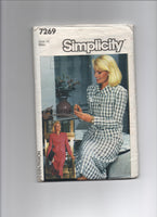 Simplicity 7269 vintage 1980s skirt and jacket sewing pattern