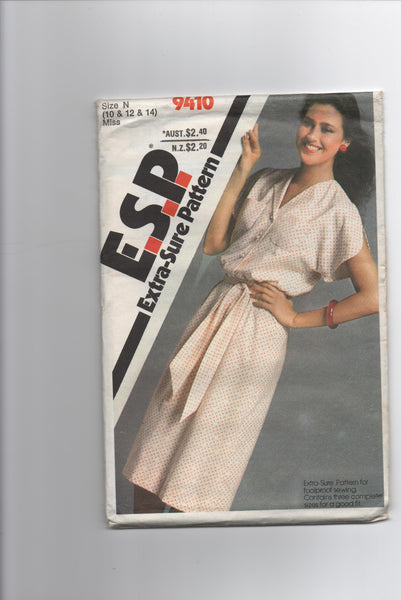 Simplicity 9410 vintage 1980 dress sewing pattern