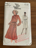 Vogue 9980 vintage 1970s  dress, skirt and top pattern