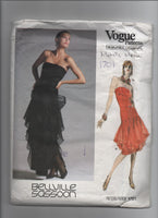 Vogue 1701 Vintage 1980s evening dress pattern. Vogue Designer Original Belville Sassoon