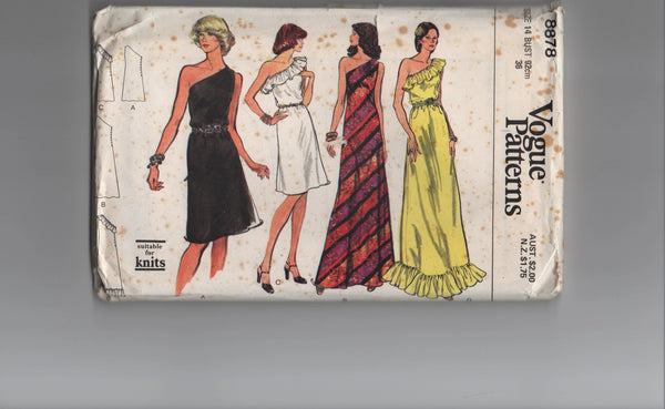 Vogue 8878 vintage 1970s  dress sewing pattern