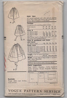 Vogue 9243 vintage 1950s skirt sewing pattern