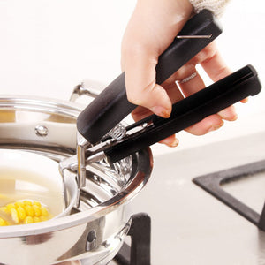 Pot Bowl Gripper Hot Plate Pan Holder Stainless Steel Dish Clamp Kitchen USA
