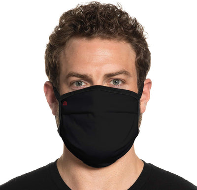 Secret Artist Non-Pleated Black/Black Reversible Cloth Face Mask