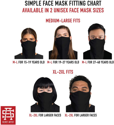 Secret Artist Black Camo Cloth Bandana Face Mask