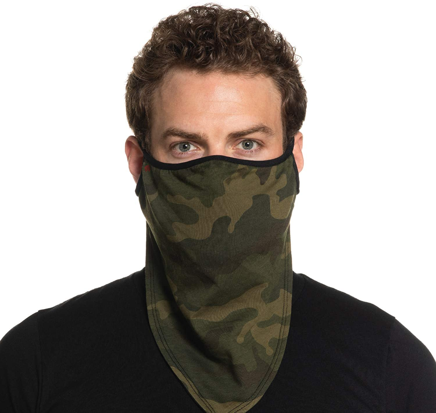 Secret Artist Green Camo Cloth Bandana Face Mask