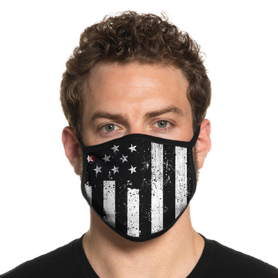 Secret Artist Non-Pleated Americana Cloth Face Mask