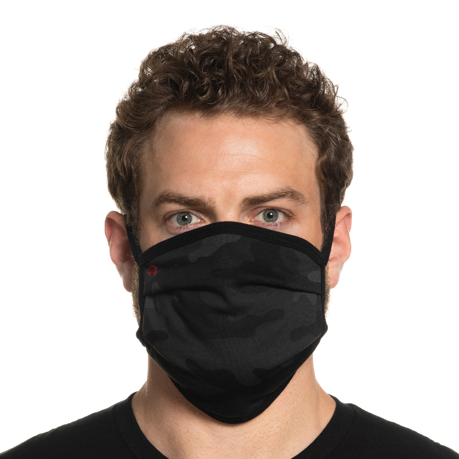 Secret Artist Pleated Black Camo/Black Reversible Cloth Face Mask
