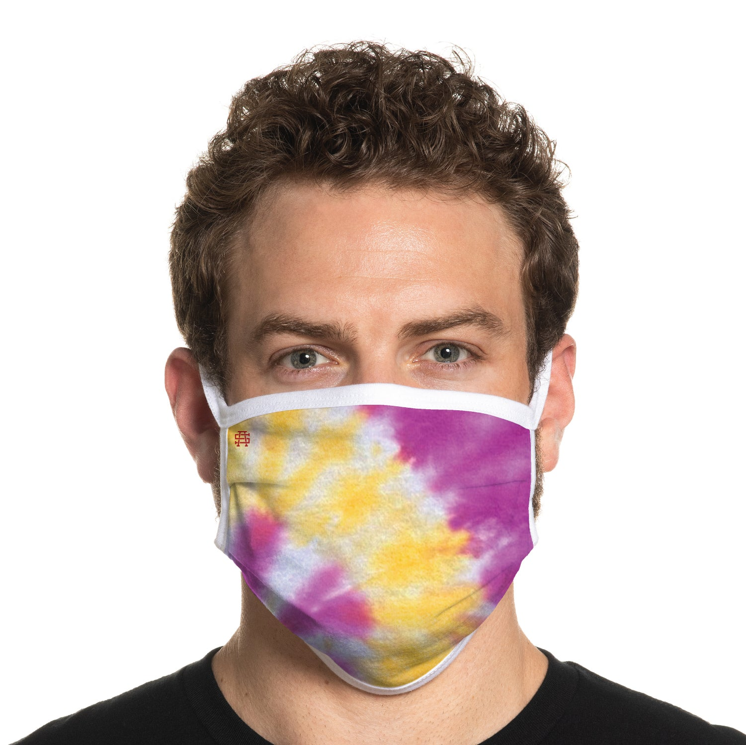 Secret Artist Pleated Sherbert Tie Dye/White Reversible Cloth Face Mask