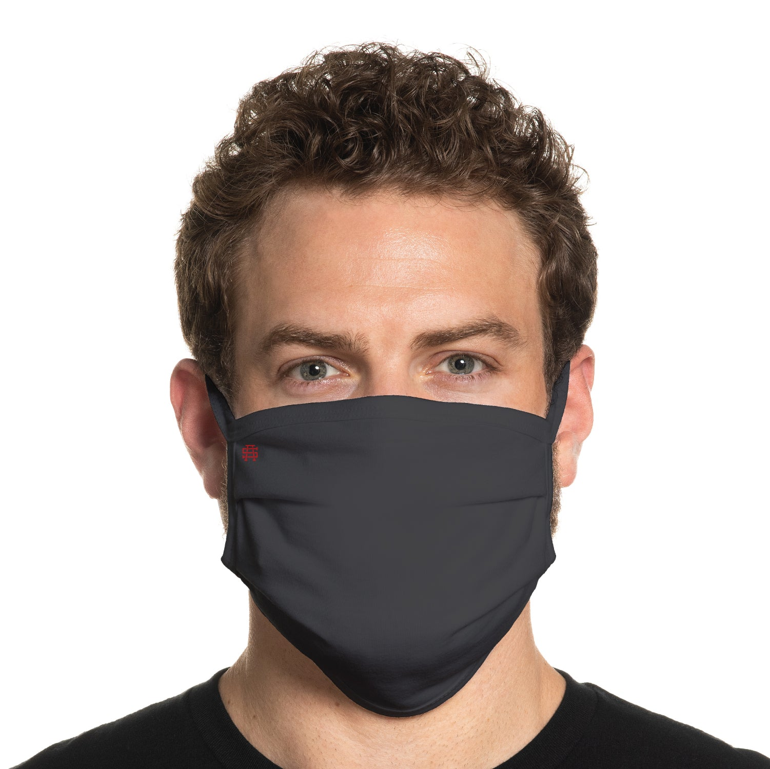 Secret Artist Pleated Charcoal Grey/Black Reversible Cloth Face Mask