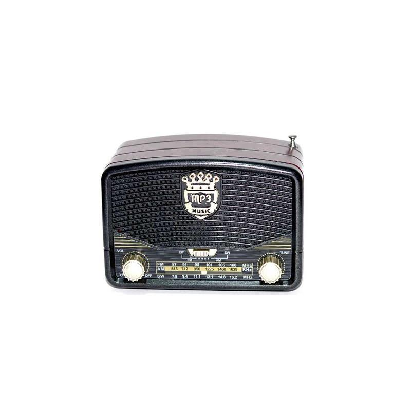 MINI RADIO PORTABIL MODEL RETRO CU BLUETOOTH - FUNCTIE RADIO FM - MP3 USB MICROSD