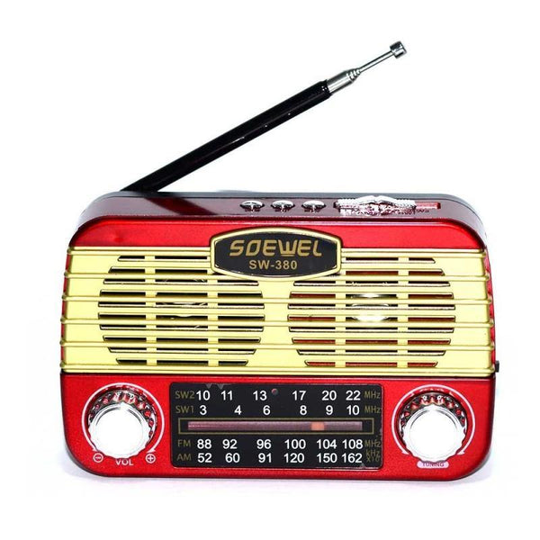 RADIO PORTABIL MODEL RETRO CU BLUETOOTH - FUNCTIE RADIO FM - MP3 USB MICROSD - pedavo