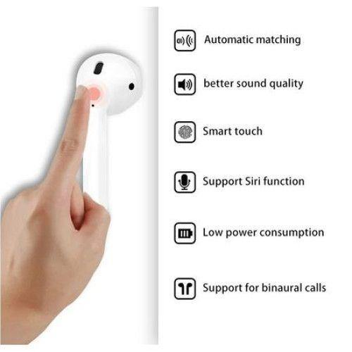 Casti Bluetooth I12, Profesionale, 3D sound, Bluetooth 5.0 + EDR, Touch Senzor