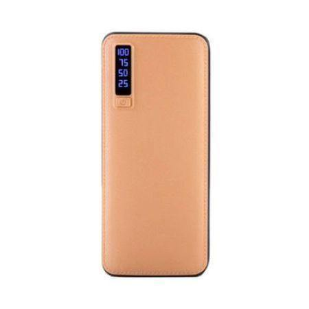 Baterie externa Power bank 20000 mAh, maro