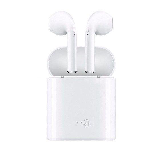 Casti wireless, i7 Twins, Stereo True Wireless, V4.2+ DER, Earbuds, High Definition Music, Microfon, Apeluri Telefon