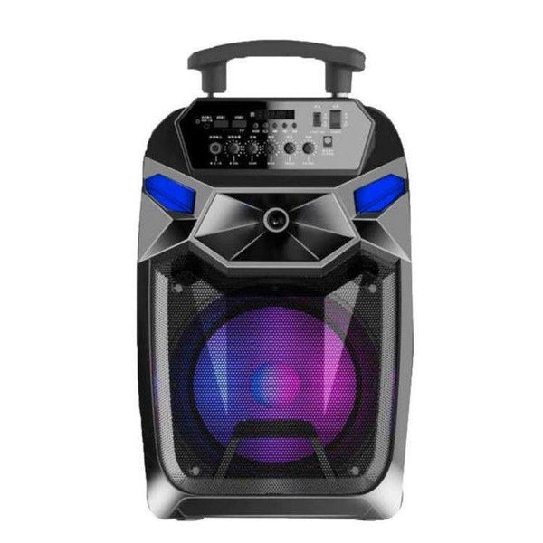 Boxa portabila karaoke 1000 W cu microfon,microSD card, USB , AUX in , bluetooth , display digital - pedavo