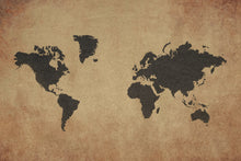 Load image into Gallery viewer, Rustic World Map