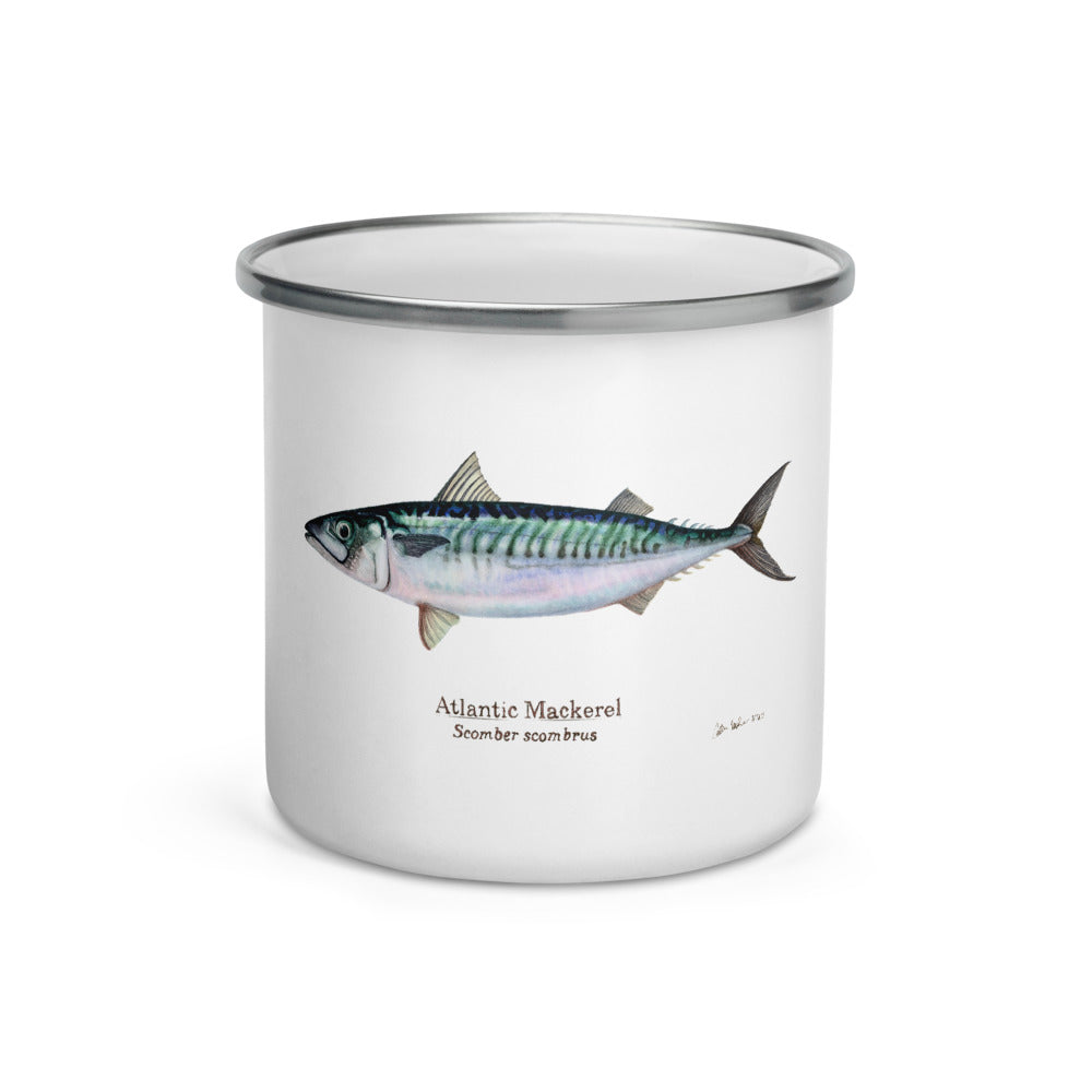 Atlantic Mackerel Enamel Mug