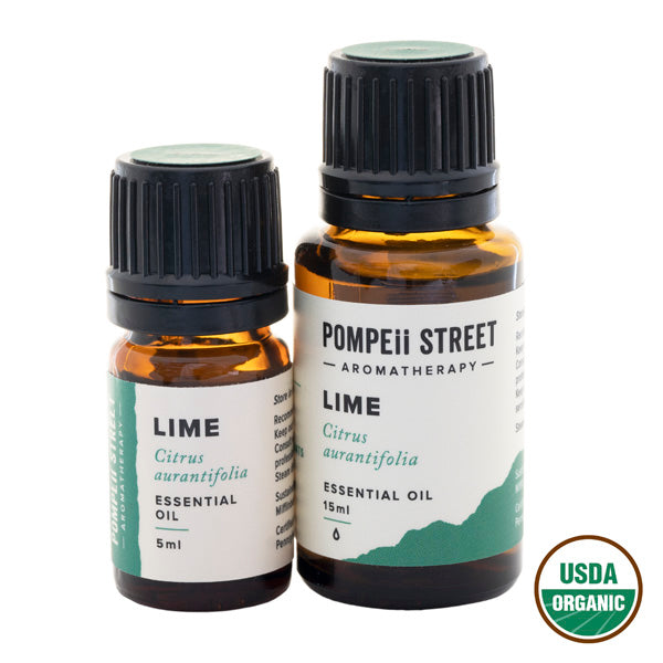 Lime Essential Oil | Certified Organic | Pompeii Street Aromatherapy