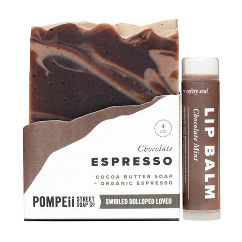 Chocolate Espresso Soap Bar + Lip Balm