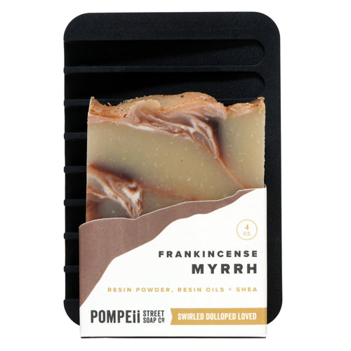 Frankincense Myrrh Soap Bar + Soap Dish