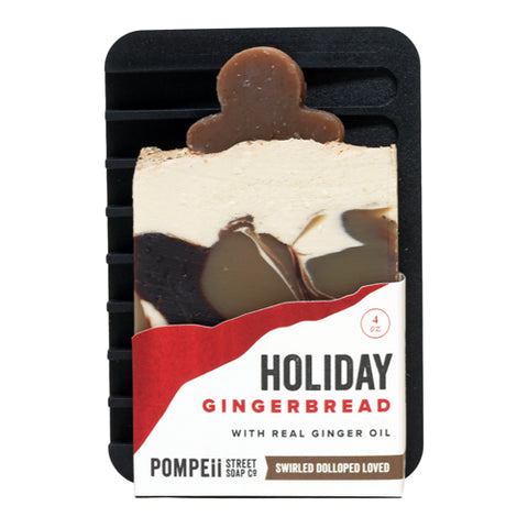 Holiday Gingerbread Soap Bar + Soap Dish