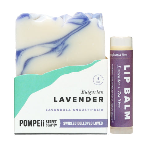 Lavender Soap Bar + Lip Balm