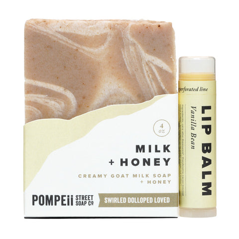 Milk & Honey Soap Bar + Lip Balm