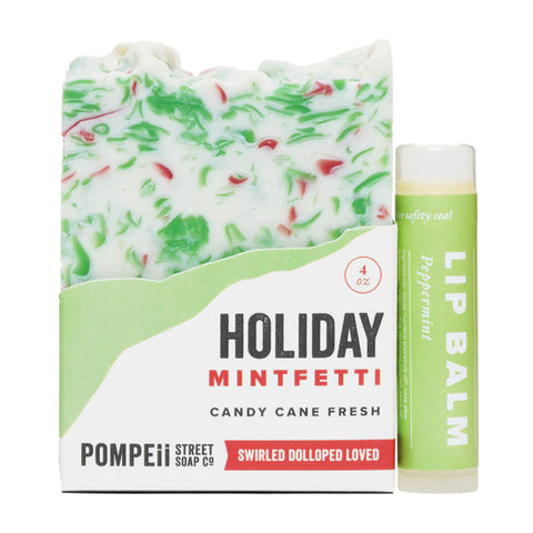 Holiday Peppermint Soap Bar + Lip Balm