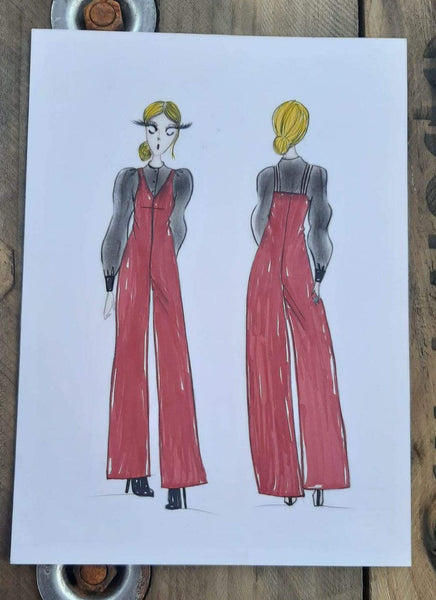 Jumpsuit - Burgundy - 322Couture