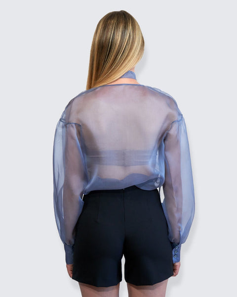 Passepartout - Blusa in Organza - 322Couture