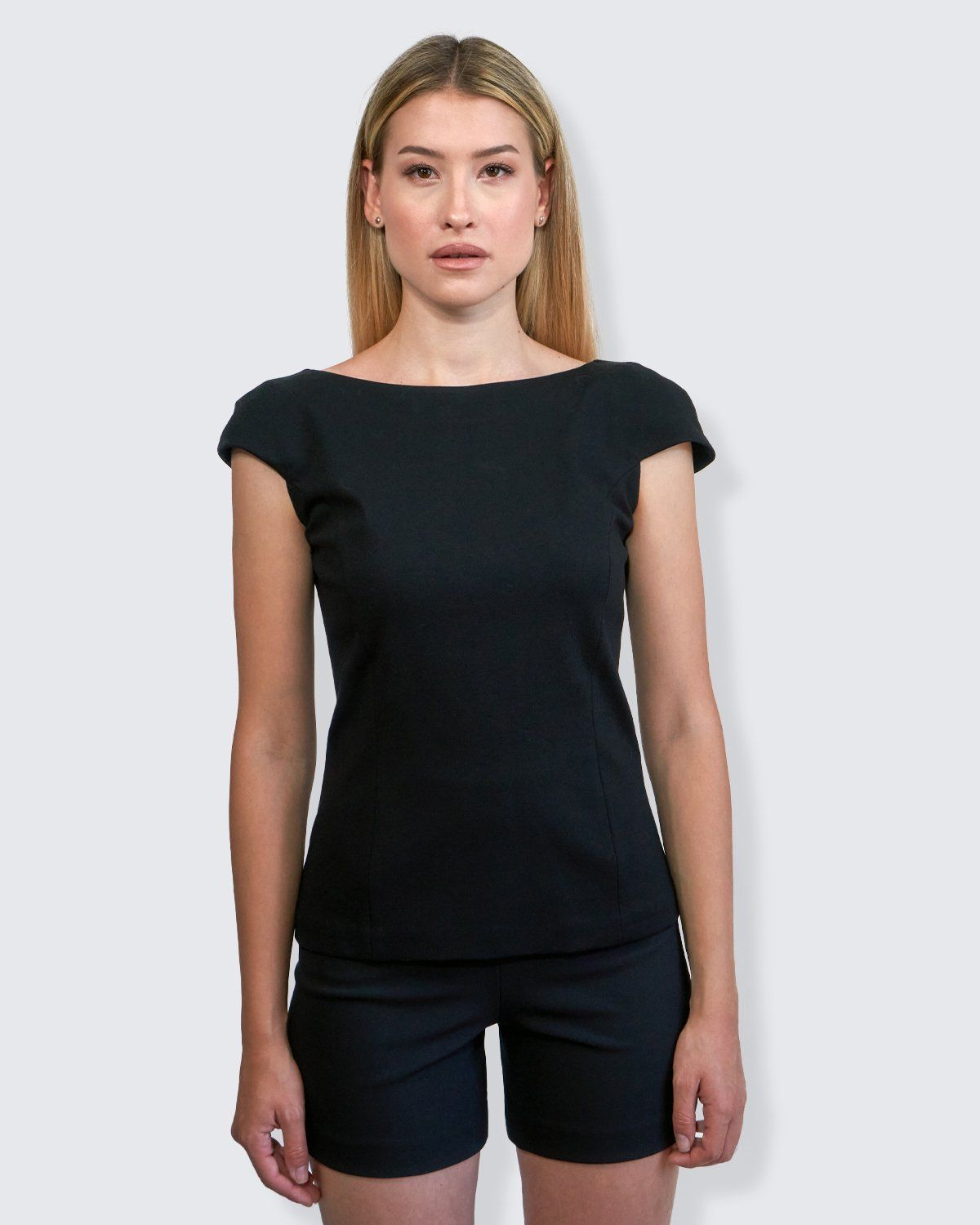 Passepartout - Top con Manica a Conchiglia top 322Couture 40 Nero