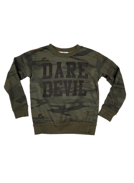 Dustin Dare Devil Camo Sweatshirt - Spruce