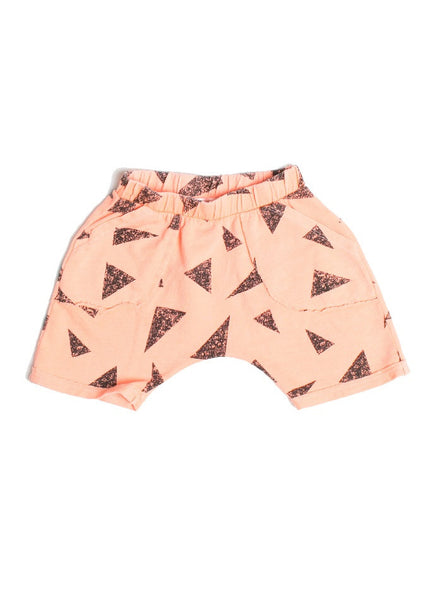 Neal Black Triangle Print Shorts - Sunset