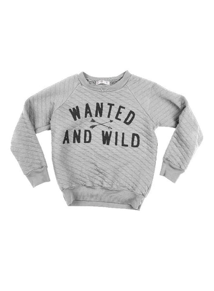 Parker Wanted and Wild Print Quilted Sweatshirt - Alloy