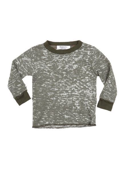 Todd Burnout Thermal Long Sleeve Tee - Spruce