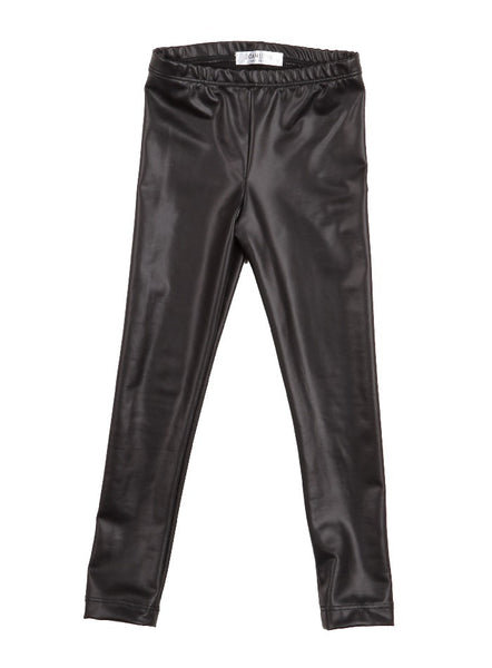 Vida Faux Leather Legging - Black