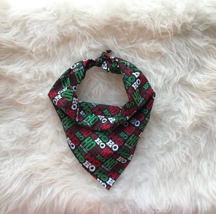 Ho Ho Ho Christmas Dog Bandana